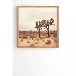 "30"" x 30"" Catherine McDonald California Joshua Trees Framed Art - Deny Designs | Target"