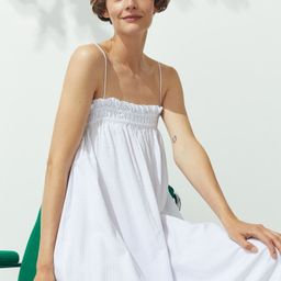Relaxed-fit, calf-length dress in woven, crêped fabric. Narrow, adjustable shoulder straps and r... | H&M (US)