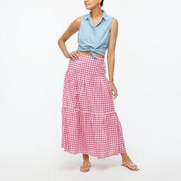 Triple-tier maxi skirt | J.Crew Factory