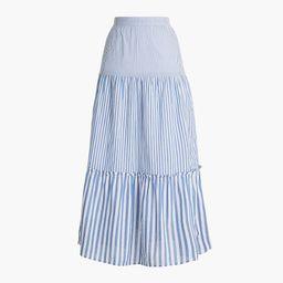 Tiered ruffle maxi skirt | J.Crew Factory