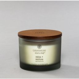 11oz Glass Jar Candle Relax + Restore Sage Peppermint - Mind & Body by Chesapeake Bay Candle   Target