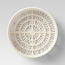 """14"""" x 4"""" Decorative Weave Tray Cream - Project 62™   Target"""
