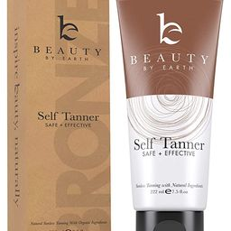 Self Tanner - With Organic Aloe Vera & Shea Butter, Sunless Tanning Lotion and Bronzer Buildable ...   Amazon (US)
