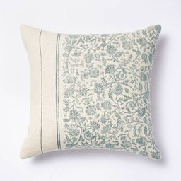 Floral Striped Throw Pillow Blue/Cream - Threshold™ designed with Studio McGee   Target