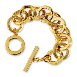 NEST Jewelry Hammered Gold Link Bracelet   Neiman Marcus