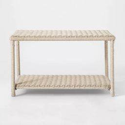 Monroe Wicker Patio Coffee Table White - Threshold™, coffee table   Target