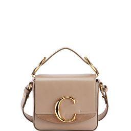 C Mini Shiny Leather Shoulder Bag   Neiman Marcus
