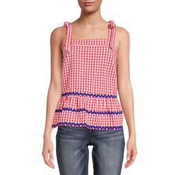 theGet Women's Tie Shoulder Ric Rac Tank Top   Walmart (US)