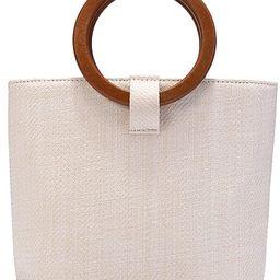 JOSEKO Womens Straw Handbag Straw Shoulder Bag for Beach Travel and Everyday Use | Amazon (US)