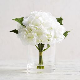 Faux White Hydrangea Composed Arrangement   Pottery Barn (US)
