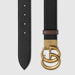 GG Marmont reversible wide belt | Gucci (US)