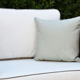 Kinsey Stripe Pillow, Green | One Kings Lane
