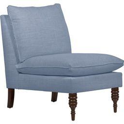 Daphne Slipper Chair, French Blue Linen Linen | One Kings Lane