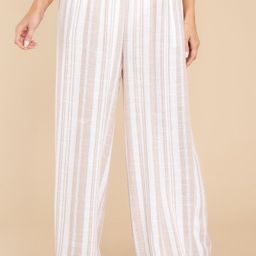 In Good Time Natural Stripe Pants | Red Dress