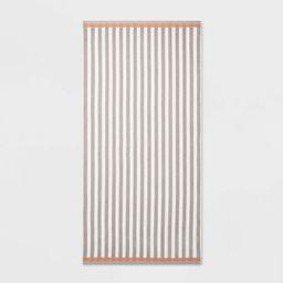 Stripe Beach Towel XL Gray - Sun Squad™ | Target