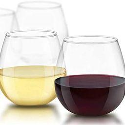 JoyJolt Spirits Stemless Wine Glasses for Red or White Wine (Set of 4)-15-Ounces | Amazon (US)