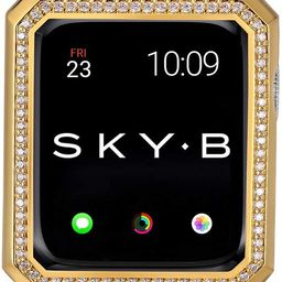 SKYB Deco Halo Apple Watch Case with NYC Watch Band Charms and Silicone Sports Band Set - 18K Yel... | Amazon (US)