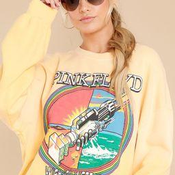 Pink Floyd Wish You Were Here Sunny Yellow Sweatshirt | Red Dress