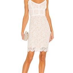 HEARTLOOM Adora Mini Dress in Eggshell from Revolve.com   Revolve Clothing (Global)