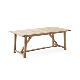 Crosby Teak Expandable Dining Table – Natural   Serena and Lily