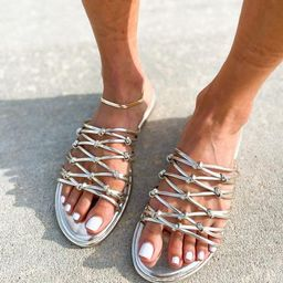 'Chloe' Knotted Straps Sandals   Goodnight Macaroon