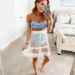 'Natalie' Tassels Knitted Cover-up Skirt (7 Photos)   Goodnight Macaroon