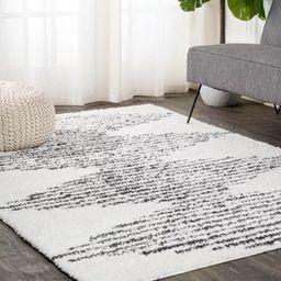 5'x8' Rectangle Woven Stripe Area Rug White - JONATHAN  Y | Target
