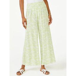 Scoop Women's Printed Wide Leg Ankle Pants   Walmart (US)