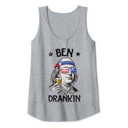 Ben Drankin 4th of July Funny Benjamin Franklin Men Women Tank Top | Amazon (US)