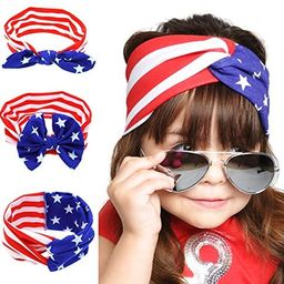 BinaryABC 4th of July Baby Headband,American Flag Headband,Fourth of july Decorations 3Pcs | Amazon (US)