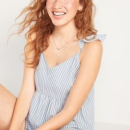 Soft-Woven Flutter-Sleeve Cami Pajama Top for Women | Old Navy (US)