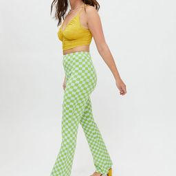 UO Checkered Knit Flare Pant | Urban Outfitters | Urban Outfitters (US and RoW)