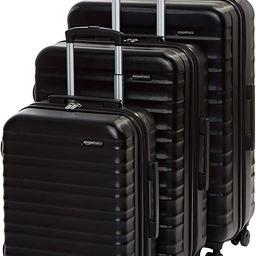 Amazon Basics Hardside Spinner Suitcase Luggage - Expandable with Wheels - 3-Piece Set, Black | Amazon (US)