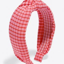 Knotted Headband in Gingham | Draper James (US)