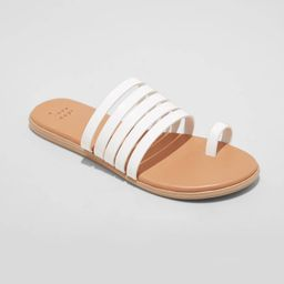 Women's Holly Strappy Toe Loop Sandals - A New Day White 10 | Target