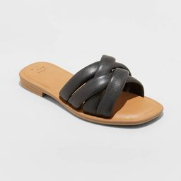 Women's Rory Wide Width Padded Slide Sandals - A New Day™ 6.5W | Target