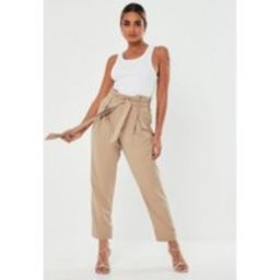 Tall Green Paper Bag Pants | Missguided (US & CA)