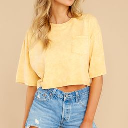 Resourceful To A Tee Yellow Crop Top | Red Dress