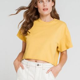 FULL TILT Yellow Crop Tee   Tillys
