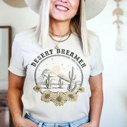 Women's Western Boho TShirts Modern Abstract Shirts | Etsy | Etsy (US)