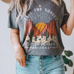 Arizona Tee Desert Tee Desert Vibes Desert T-shirt  Boho | Etsy | Etsy (US)