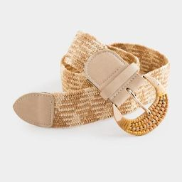Reeve Stretch Woven Belt - Natural | Francesca's Collections