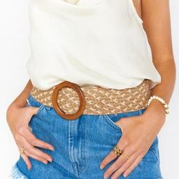 Lyla Woven Belt ~ Natural/White | Show Me Your Mumu