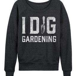 Instant Message Women's Women's Sweatshirts and Hoodies HEATHER - Heather Charcoal 'I Dig Gardening'   Zulily