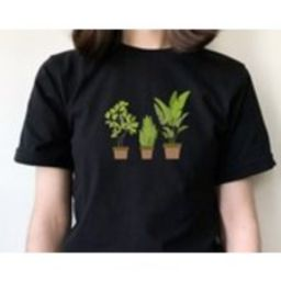 Embroidered Botanical Tshirt, Cute Plants Top, Unisex Tee, Gardening Theme | Etsy (CAD)