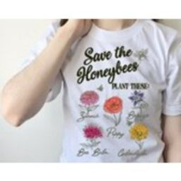 Embroidered Botanical Tshirt, Unisex Tee, Gardening Theme, Wildflowers Pattern   Etsy (CAD)