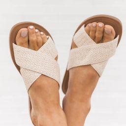 Joelle Raffia Criss Cross Sandals   The Pink Lily Boutique