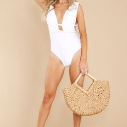 California Surf White One Piece Swimsuit | Red Dress