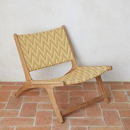 Havana Wicker + Teak Armless Chair | Terrain
