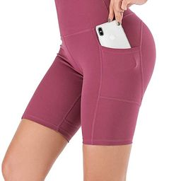 UBFEN Women's High Waist Yoga Shorts Workout Athletic Shorts for Tummy Control Running Sports Pan...   Amazon (US)